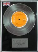 "ELVIS PRESLEY - 7"" Platinum Disc - MY WAY"